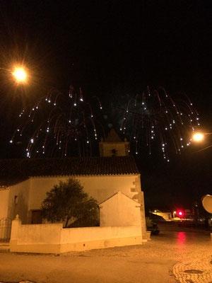Fireworks above Raposeira.