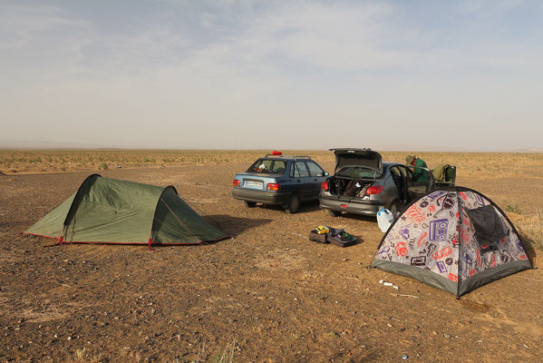 Our campsite in Sabzevar desert. © Laura Tiemann