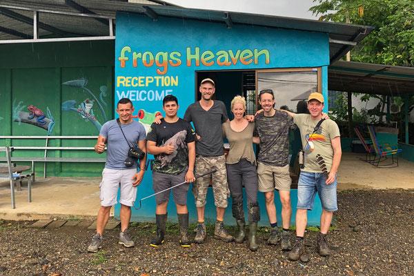 Happy herpers at Frog's Heaven.