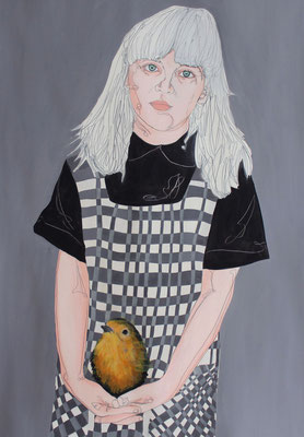 Uniform  / Oil on Paper 70 x 100 Cm  2016