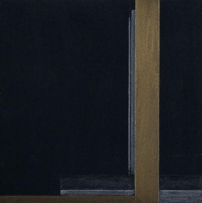 """black box abstrakt 2 / II"" 25,0 x 25,0 cm Acryl u. Polychromos auf MDF, 2018 (in Privatbesitz Krefeld)"