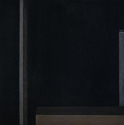 """""""black box abstrakt 2 / III"""" 25,0 x 25,0 cm, Acryl u. Polychromos auf MDF, 2018"""