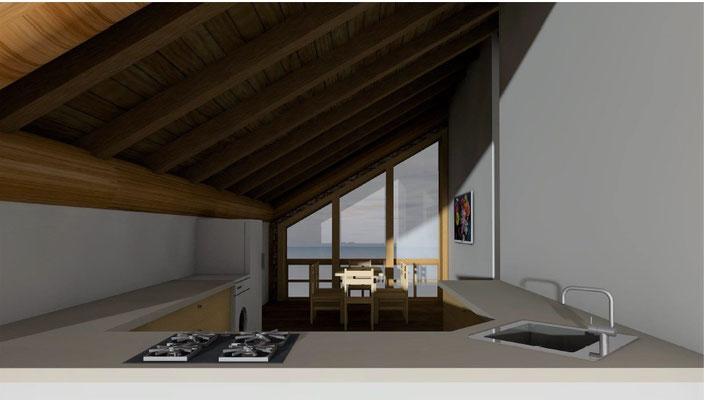 гараж по каркасно-бревенчатой технологии post and beam из кедра