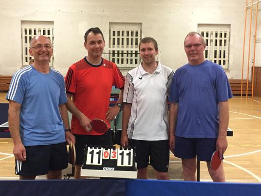 Doppelfinalisten  -  v.l. Gerd Pätz, Holger Knoch, Roy Zimmermann, Franz Kuhl