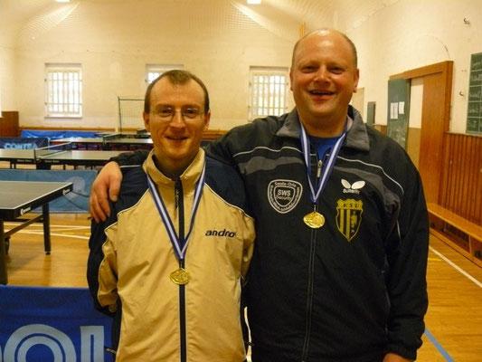 Doppel-Stadtpokal-Sieger 2015  -  v.l. Norman Schusser, Bernd Heller