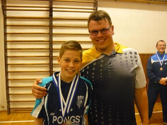 Vereinspokal 2016 - Die Drittplatzierten im Einzel v.l.: Bastian Seidel und Jan Kessel
