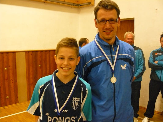 Vereinspokal 2016 - Zweiter im Doppel v.l.: Bastian Seidel und Sebastian Heinz