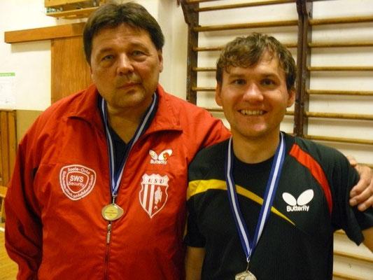 2. im Doppel  -  v.l. Detlev Pensold, Toni Schellenberg