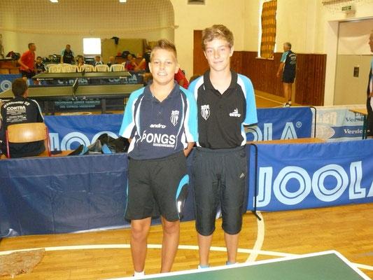 Bastian Seidel & Adrian Bauer (v.l.) als MSV V und damit das jüngste Team im Turnier.