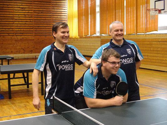 v.l. Toni Schellenberg, Jan Kessel, Maik Fröhlich