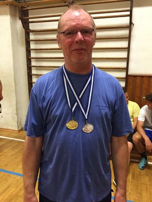 Knapp am Double vorbei  -  Sieger im Doppel und Zweiter im Einzel Franz Kuhl