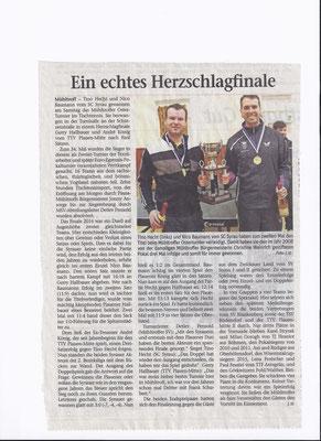 34. Osterturnier - Zeitungsartikel aus dem Vogtland-Anzeiger (Ausgabe 31.03.2016)