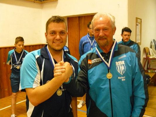 Vereinspokal 2016 - Sieger im Doppel v.l.: Mario Böttger und Norbert Witt