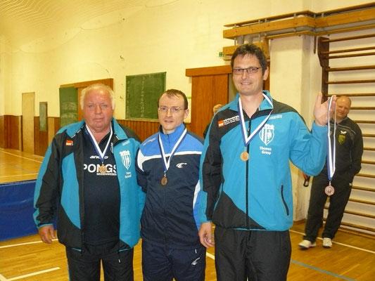 Vereinspokal 2016 - Die Drittplatzierten im Doppel v.l.: Peter Christof/Norman Schusser und Thomas Graap/Adrian Graap (fehlt)
