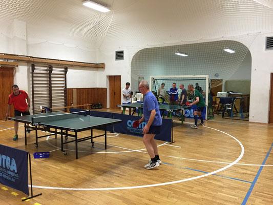 Halbfinale zwischen Holger Knoch (l.) und Franz Kuhl
