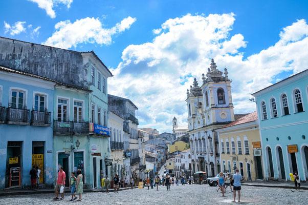 BRASIL - Bahia, Salvador cenários da região central.