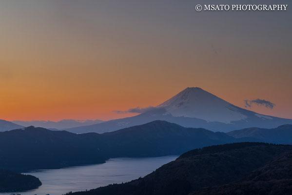 11 de fevereiro a partir da montanha em Hakone, província de Kanagawa(14).