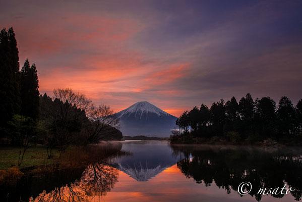 12 de abril a partir do lago Tanuki, província de Yamanashi(15).