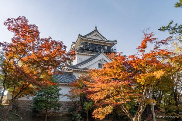 22 - Província de AICHI - Castelo de Okazaki durante o outono. Localizado na cidade homônima, foi construído entre 1455 e 1542 e é conhecido como o berço de Tokugawa Ieasu.