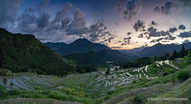 Arroz, Maruyama, mil canteiros, Senmaida, rice Terrace, por do sol, Japan, Kumano, Mie.