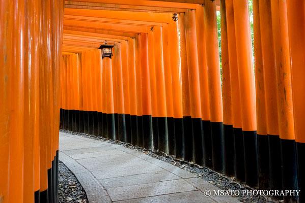 26 - Província de KYOTO. Santuário Fushimi Inari. Um dos pontos mais visitados por turistas na cidade de Kyoto, famoso pelos seus toris(portais vermelhos).
