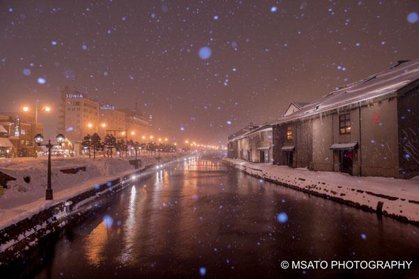 Canal em Otaru, fotografado no dia 17 de fevereiro, Hokkaido(1)