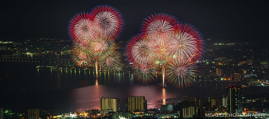 25 - Província de SHIGA. Festival de hanabi na cidade de  Otsu. Magnífico festival de fogos de artifício que acontece anualmente no lago Biwa na cidade de Otsu.