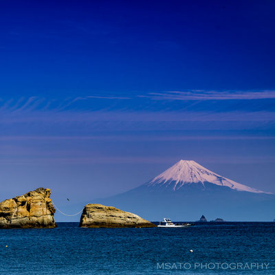 05 de marçoo a partir do lado oeste da península de Izu, província de Shizuoka(21).