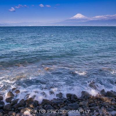SHIZUOKA Province - Monte Fuji visto a partir da península de Izu_01.