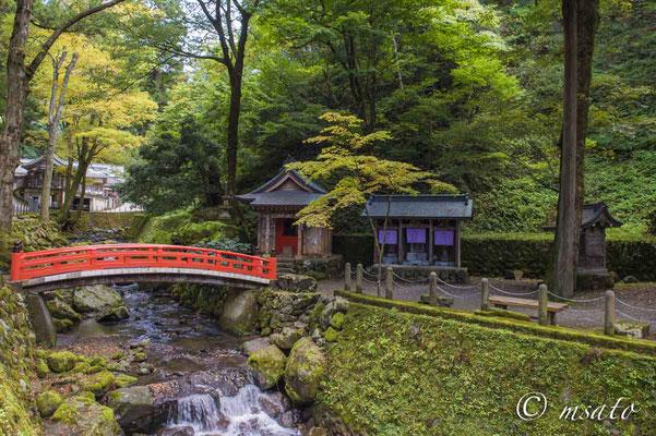 20 - FUKUI. Bela ponte oriental dentro das dependências do templo Eiheiji - Templo Zen Budista fundado em 1244 na periferia da cidade de Fukui.