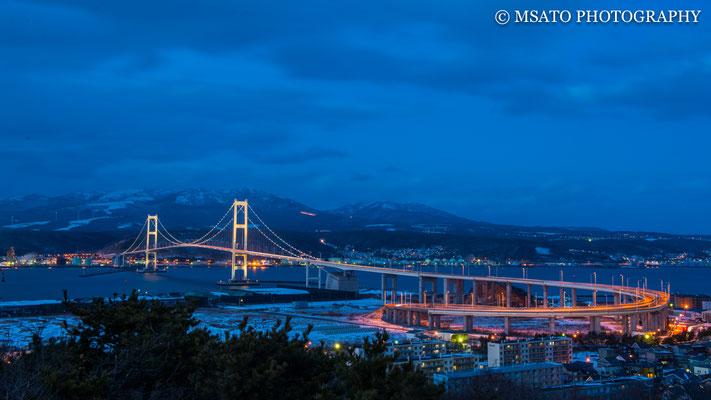 1 - HOKKAIDO. Ponte cisne. Belo exemplar de arquitetura na construção de pontes localizada na cidade de Muroran.
