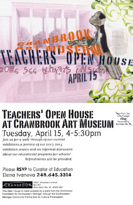 Graphic Design for Cranbrook Art Museum