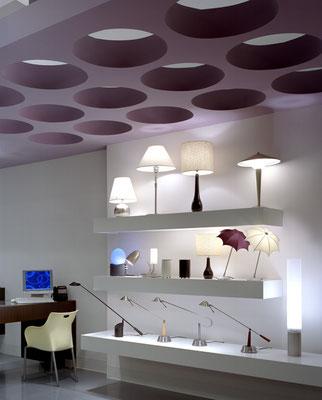 Lighting display and overhead elements