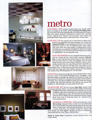 Publication in Metropolitan Home magazine