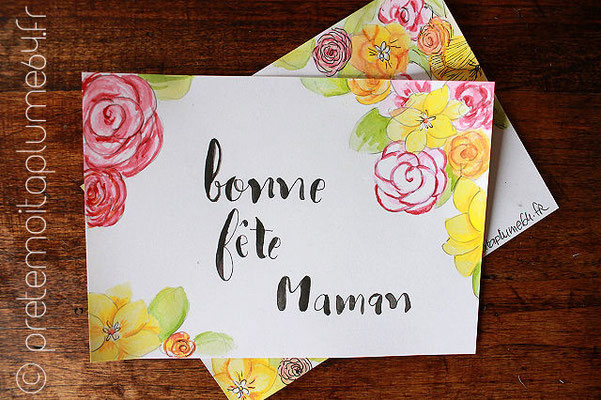 carte peinte main (15,5 x 11) 4 €