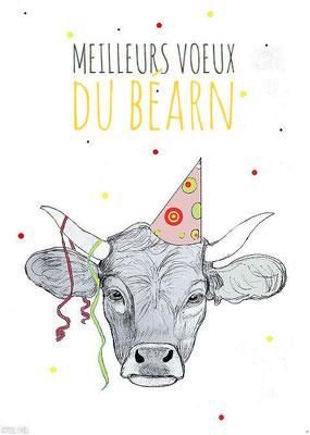Carte vœux du Béarn à partir de 3 € avec enveloppe blanche