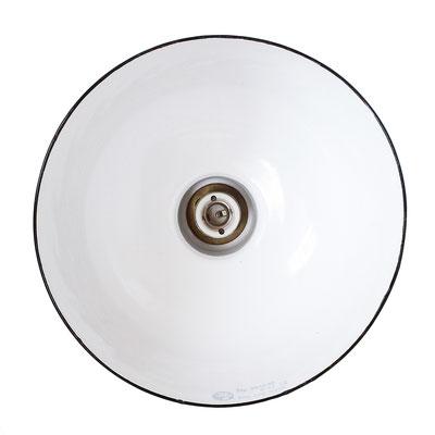 """Original Vintage Enamel Industrial Factory Lamp /""""EMATRE-S/"""" Hemispherical Ø 38 cm"""