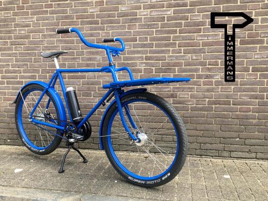 Timmermans Fietsen Blue Cargo met Pendix Direct Drive middenmotor van FONebike Fiets Ombouwcentrum Nederland Arnhem Gelderland