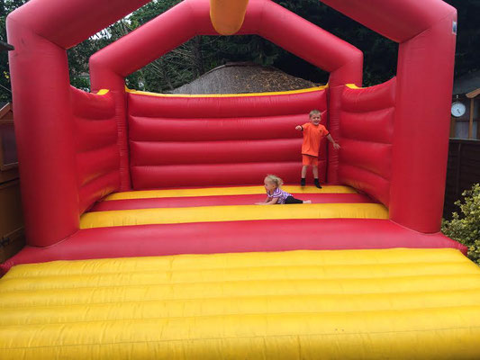 Two loners on the bouncy castle