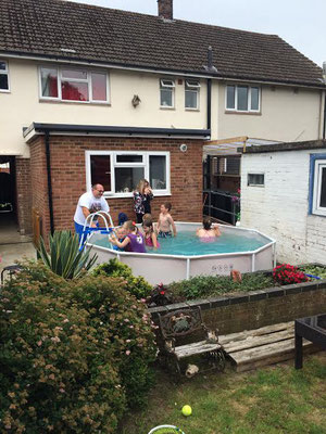 Kids enjoy the pool