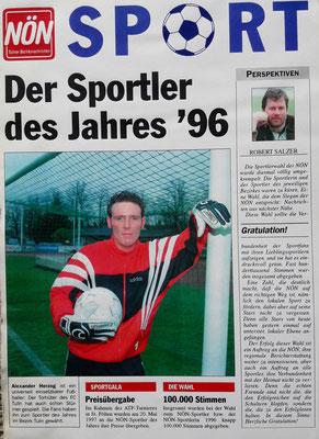 Alexander Herzog Sportler des Jahres 96