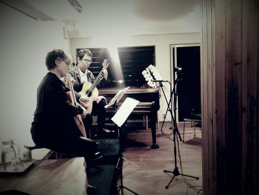 2016.2  金谷幸三、キャロリーヌ・ドゥリューム ギタージョイントコンサート