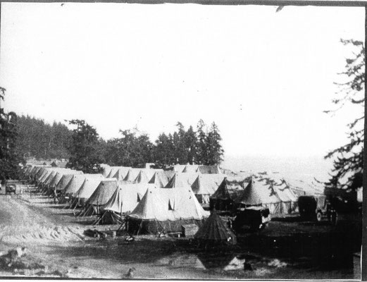 Army tents at Otter Point
