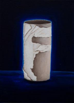 Eine infizierte Gesellschaft #3, Acryl u. Öl auf Leinwand, 24 x 18 cm, 2020.