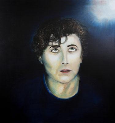 Melancholie #1, Acryl auf Leinwand, 100 x 100cm, 2018.