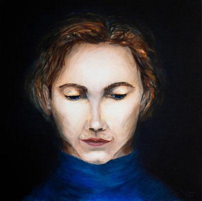 Melancholie #2,  Acryl auf Leinwand, 40 x 40cm, 2018.