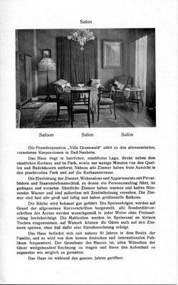 Hotel Grunewald Bad Nauheim, Hotelprospekt um 1900, Online-Museum Bad Nauheim