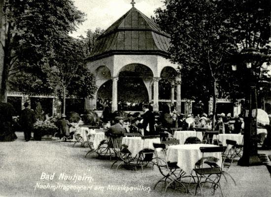 """""""Bad Nauheim Nachmittagsconzert am Musikpavillon"""", Foto von Familie Werle, Online-Museum Bad Nauheim"""