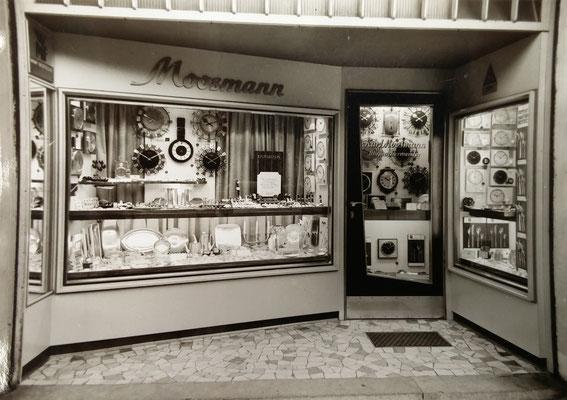 60er Jahre:  Uhren- und Schmuckgeschäft Kurt Moosmann, Parkstraße Bad Nauheim
