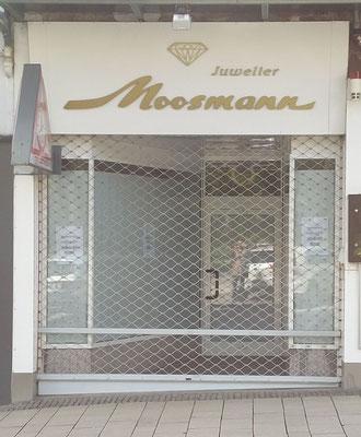 April 2018, der Ausverkauf und die Tradition der Familie Moosmann sind beendet